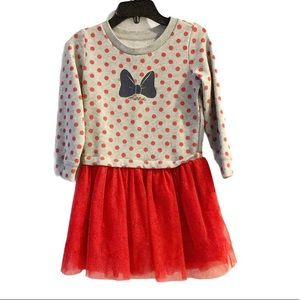Baby Gap Disney Minnie Red Polka Dot Tutu Dress